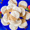 plate of cappuccino shortbread cookies