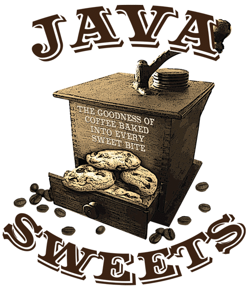 Coffee Flavored Cookies Java Sweets Logo