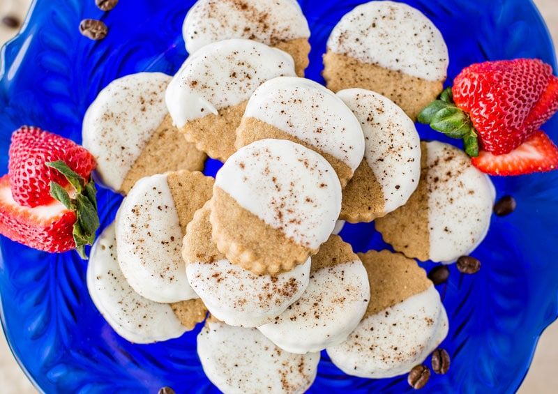Java Sweets Coffee Flavored Cappuccino Shortbread Cookies