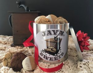 Cookis in Tin for Cookie Delivery, Cookie Gifts, and Coffee Gifts Delivered