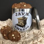 mocha cookies in java sweets tin
