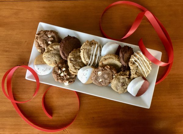 sampler plate of assorted cookies
