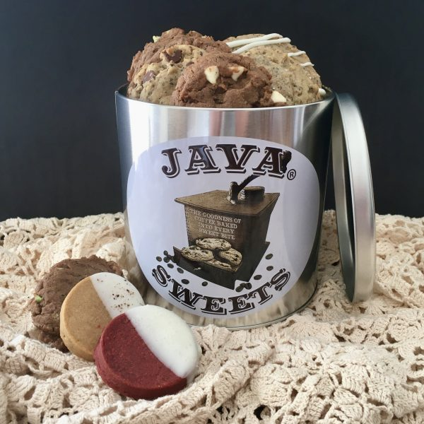 Tin of assorted gourmet cookies delivered