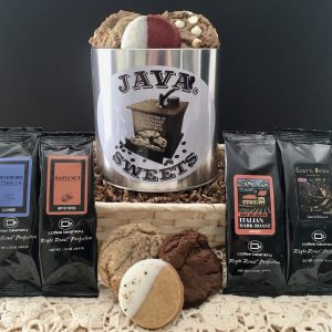 coffee gift baskets with cookies delivered