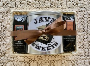 gift basket with coffee and cookies