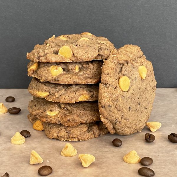 stack of butterscotch cookies